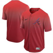 Wholesale Cheap Nike Braves Blank Red Fade Authentic Stitched MLB Jersey