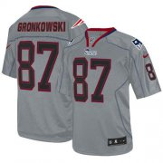 Wholesale Cheap Nike Patriots #87 Rob Gronkowski Lights Out Grey Men's Stitched NFL Elite Jersey