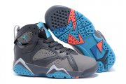 Wholesale Cheap Kids' Air Jordan 7 Retro Shoes Gray/blue-orange