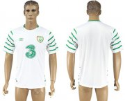 Wholesale Cheap Ireland Blank White Away Soccer Country Jersey