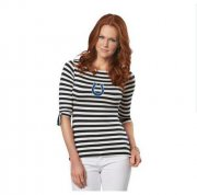 Wholesale Cheap Indianapolis Colts Lady Striped Boatneck Three-Quarter Sleeve T-Shirt