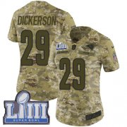 Wholesale Cheap Nike Rams #29 Eric Dickerson Camo Super Bowl LIII Bound Women's Stitched NFL Limited 2018 Salute to Service Jersey