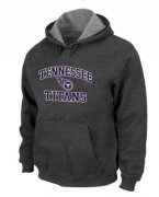 Wholesale Cheap Tennessee Titans Heart & Soul Pullover Hoodie Dark Grey