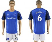 Wholesale Cheap Everton #6 Jagielka Home Soccer Club Jersey