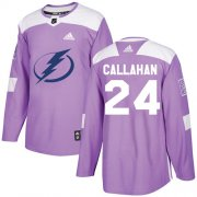 Wholesale Cheap Adidas Lightning #24 Ryan Callahan Purple Authentic Fights Cancer Stitched NHL Jersey