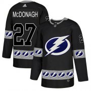 Wholesale Cheap Adidas Lightning #27 Ryan McDonagh Black Authentic Team Logo Fashion Stitched NHL Jersey