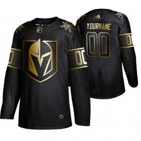 Wholesale Cheap Adidas Golden Knights Custom Men\'s 2019 Black Golden Edition Authentic Stitched NHL Jersey