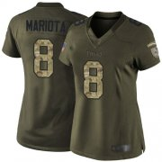 Wholesale Cheap Nike Titans #8 Marcus Mariota Green Women's Stitched NFL Limited 2015 Salute to Service Jersey