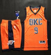 Wholesale Cheap Thunder #9 Serge Ibaka Orange Alternate A Set Stitched NBA Jersey