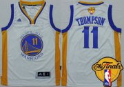Cheap Youth Golden State Warriors #11 Klay Thompson White 2016 The NBA Finals Patch Jersey