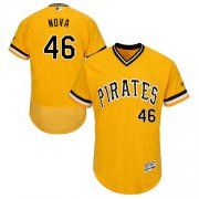 Wholesale Cheap Pirates #46 Ivan Nova Gold Flexbase Authentic Collection Stitched MLB Jersey