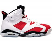 Wholesale Cheap AIR JORDAN 6 Retro Carmine Shoes Red/white-black