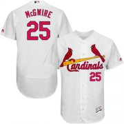 Wholesale Cheap Cardinals #25 Mark McGwire White Flexbase Authentic Collection Stitched MLB Jersey