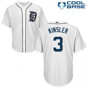 Wholesale Cheap Tigers #3 Ian Kinsler White Cool Base Stitched Youth MLB Jersey