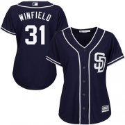 Wholesale Cheap Padres #31 Dave Winfield Navy Blue Alternate Women's Stitched MLB Jersey