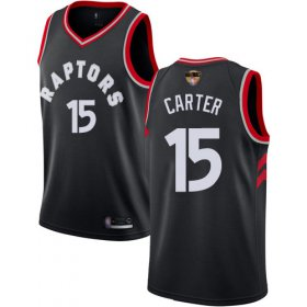 Wholesale Cheap Raptors #15 Vince Carter Black 2019 Finals Bound Women\'s Basketball Swingman Statement Edition Jersey