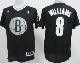 Wholesale Cheap Brooklyn Nets #8 Deron Williams Revolution 30 Swingman 2013 Christmas Day Black Jersey