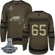 Wholesale Cheap Adidas Capitals #65 Andre Burakovsky Green Salute to Service Stanley Cup Final Champions Stitched NHL Jersey