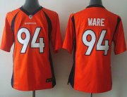 Wholesale Cheap Nike Broncos #94 DeMarcus Ware Orange Team Color Youth Stitched NFL New Elite Jersey