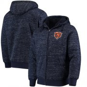 Wholesale Cheap Men's Chicago Bears G-III Sports by Carl Banks Heathered Navy Discovery Sherpa Full-Zip Jacket