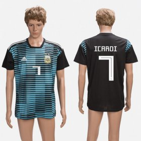 Wholesale Cheap Argentina #7 Icardi Black Training Soccer Country Jersey