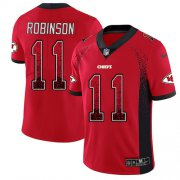 Wholesale Cheap Nike Chiefs #11 Demarcus Robinson Red Team Color Men's Stitched NFL Limited Rush Drift Fashion Jersey