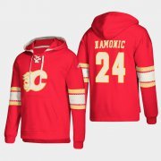Wholesale Cheap Calgary Flames #24 Travis Hamonic Red adidas Lace-Up Pullover Hoodie