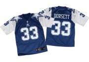 Wholesale Cheap Nike Cowboys #33 Tony Dorsett Navy Blue/White Throwback Men's Stitched NFL Elite Jersey