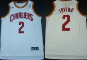 Wholesale Cheap Cleveland Cavaliers #2 Kyrie Irving Revolution 30 Swingman White Jersey