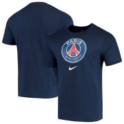 Wholesale Cheap Paris Saint-Germain Nike Evergreen Crest T-Shirt Navy