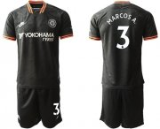 Wholesale Cheap Chelsea #3 Marcos A. Third Soccer Club Jersey