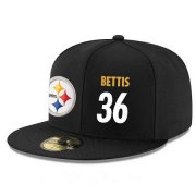 Wholesale Cheap Pittsburgh Steelers #36 Jerome Bettis Snapback Cap NFL Player Black with White Number Stitched Hat