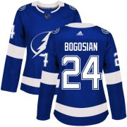 Cheap Adidas Lightning #24 Zach Bogosian Blue Home Authentic Women's Stitched NHL Jersey