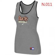 Wholesale Cheap Women's Nike Arizona Diamondbacks Tri-Blend Racerback Stretch Tank Top Light Grey