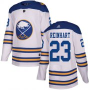 Wholesale Cheap Adidas Sabres #23 Sam Reinhart White Authentic 2018 Winter Classic Youth Stitched NHL Jersey
