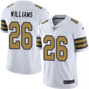 Wholesale Cheap Nike Saints #26 P.J. Williams White Men's Stitched NFL Limited Rush Jersey