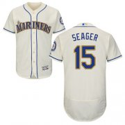 Wholesale Cheap Mariners #15 Kyle Seager Cream Flexbase Authentic Collection Stitched MLB Jersey