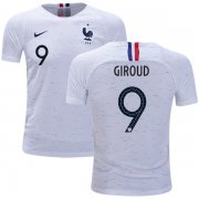 Wholesale Cheap France #9 Giroud Away Kid Soccer Country Jersey