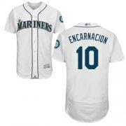 Wholesale Cheap Mariners #10 Edwin Encarnacion White Flexbase Authentic Collection Stitched MLB Jersey