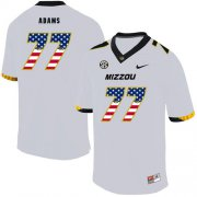 Wholesale Cheap Missouri Tigers 77 Paul Adams White USA Flag Nike College Football Jersey