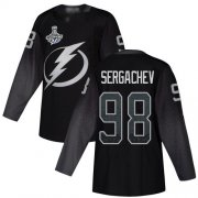 Cheap Adidas Lightning #98 Mikhail Sergachev Black Alternate Authentic 2020 Stanley Cup Champions Stitched NHL Jersey