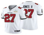 Wholesale Cheap Men's Tampa Bay Buccaneers #27 Ronald Jones II White 2021 Super Bowl LV Limited Stitched NFL Jersey