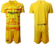 Wholesale Cheap Barcelona Blank Yellow Goalkeeper Soccer Club Jersey