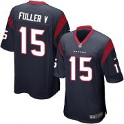 Wholesale Cheap Nike Texans #15 Will Fuller V Navy Blue Team Color Youth Stitched NFL Elite Jersey