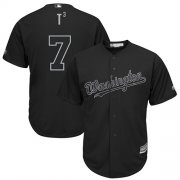 "Wholesale Cheap Nationals #7 Trea Turner Black ""T3"" Players Weekend Cool Base Stitched MLB Jersey"