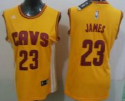 Wholesale Cheap Cleveland Cavaliers #23 LeBron James 2014 New Yellow Womens Jersey