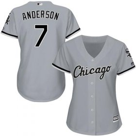 Wholesale Cheap White Sox #7 Tim Anderson Grey Road Women\'s Stitched MLB Jersey
