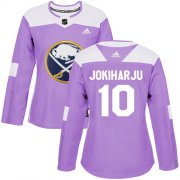 Wholesale Cheap Adidas Sabres #10 Henri Jokiharju Purple Authentic Fights Cancer Women's Stitched NHL Jersey
