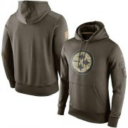 Wholesale Cheap Men's Pittsburgh Steelers Nike Olive Salute To Service KO Performance Hoodie