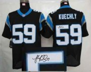Wholesale Cheap Nike Panthers #59 Luke Kuechly Black Team Color Men's Stitched NFL Elite Autographed Jersey